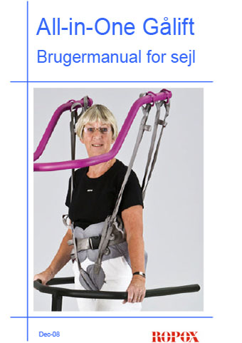 Brugermanual for sejl til Al-in-One gålift