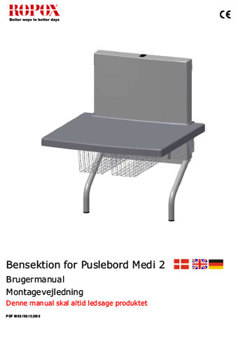 Bensektion for Puslebord Medi 2