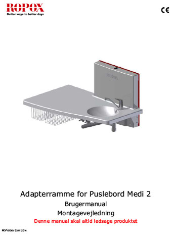 Adapterramme for Puslebord Medi 2