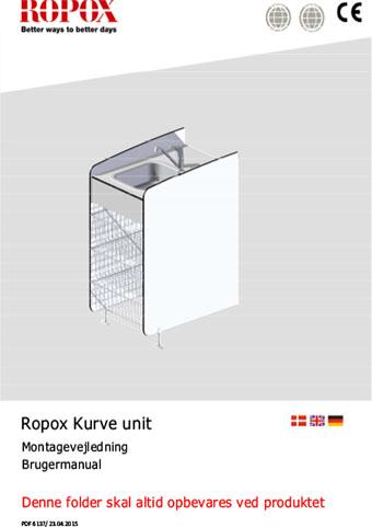 Ropox brugermanual og montagevejledning Maxi2 Kurveenhed