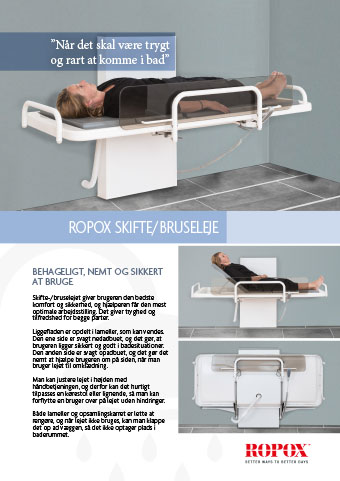 Ropox skifte/bruseleje