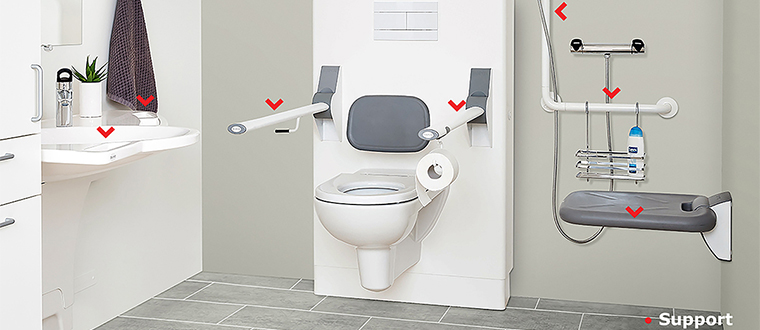 Toilet lifter / Toiletløfter support points
