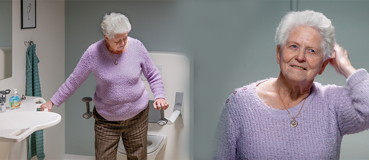 Toilet lifter / Toiletløfter with user