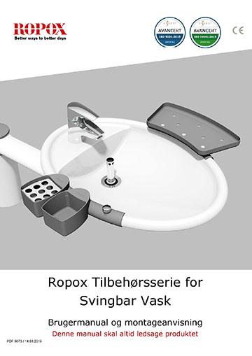 Ropox bruger- og montagevejledning - Svingbar Vask tilbehørsserie