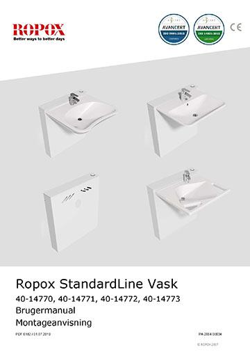 Ropox bruger- og montage vejledning - StandardLine Vask