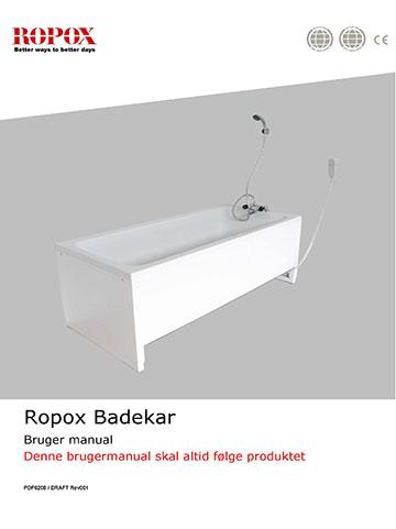 Ropox bruger- og montagevejledning Badekar