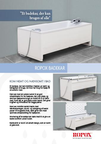 Datablad Ropox Badekar