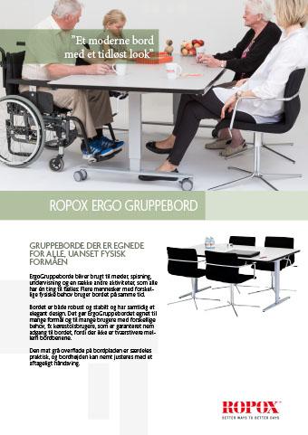 Datablad Ropox Ergo Gruppebord