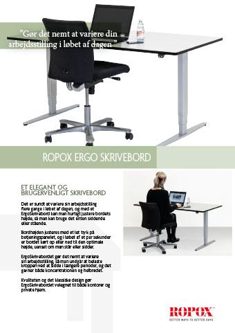 Datablad Ropox Ergo Skrivebord