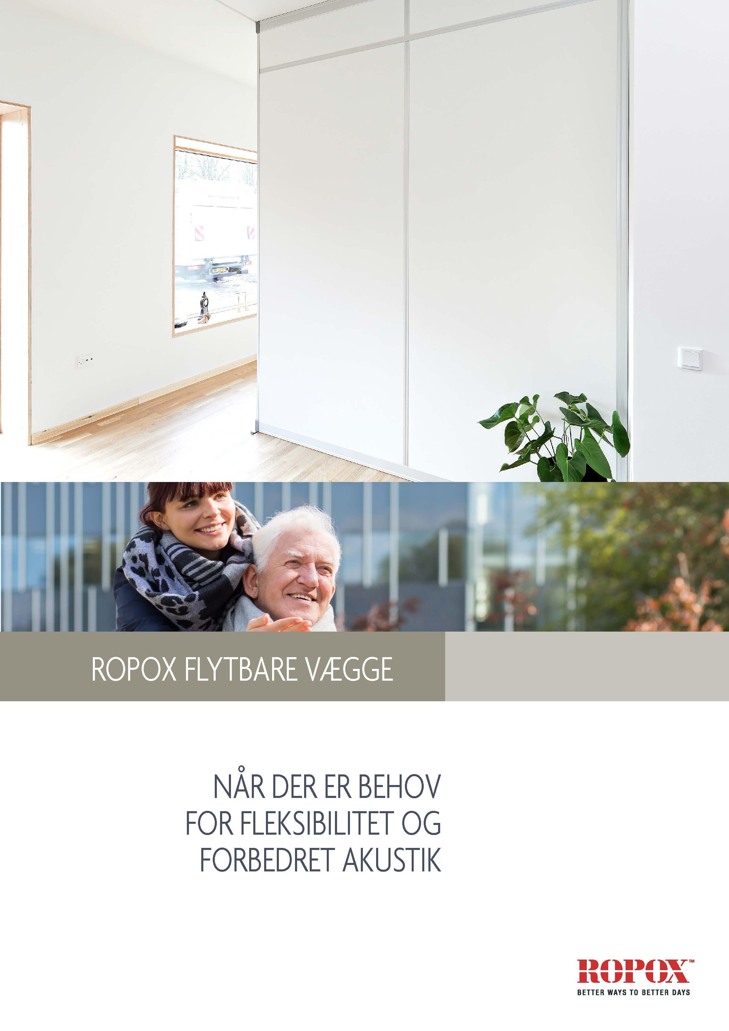 Brochure Ropox Flytbare Vægge - Når der er behov for fleksibilitet og forbedret akustik