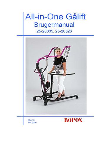 Bruger Manual All in One Gå Lift