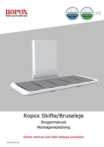 Ropox bruger- og montagevejledning - Skifte/Bruseleje
