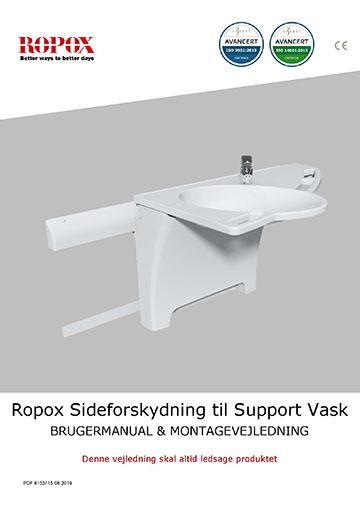 Ropox bruger- og montagevejledning - Sideforskydning til Support Vask