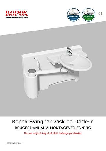 Ropox bruger- og montagevejledning - Svingbar Vask og Dock-in
