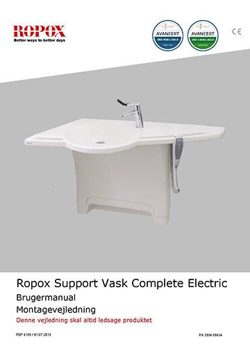 Ropox bruger- og montagevejledning - Support Vask Complete Electric