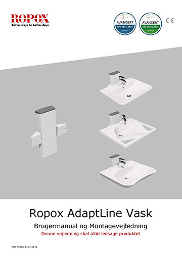 Ropox bruger- og montagevejledning - Adaptline vask