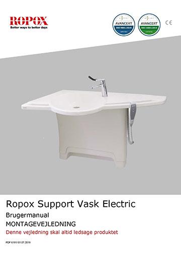 Ropox bruger- og montagevejledning - Support Vask Electric