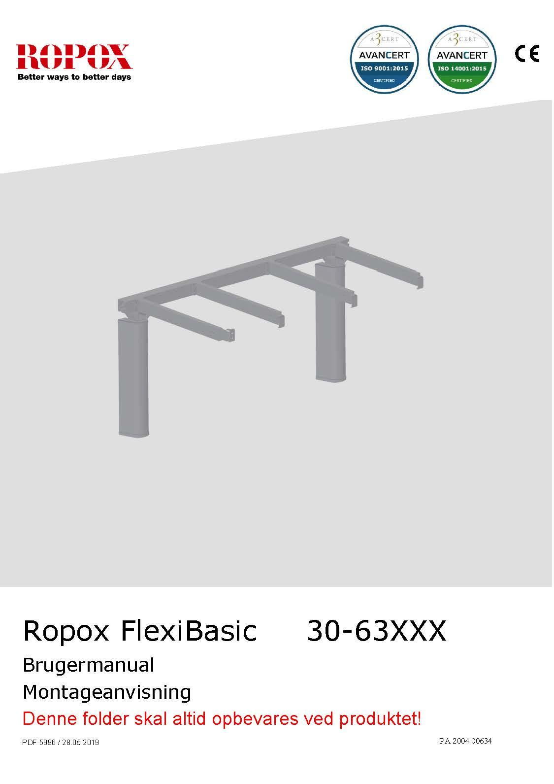 Ropox bruger- og montagevejledning - FlexiBasic