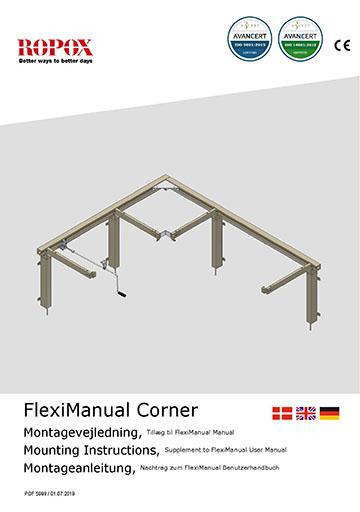 Ropox bruger- og montagevejledning - FlexiCorner Manual tillæg
