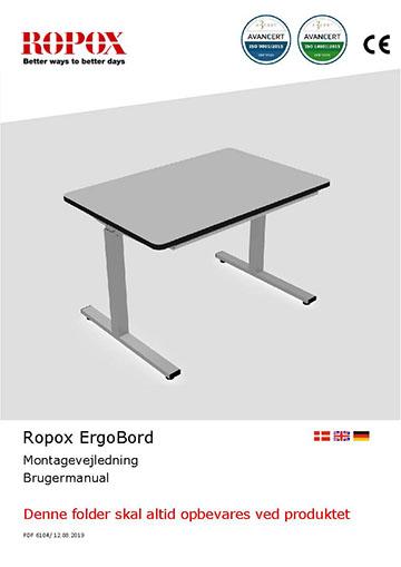 Ropox bruger- og montagevejledning - ErgoBord