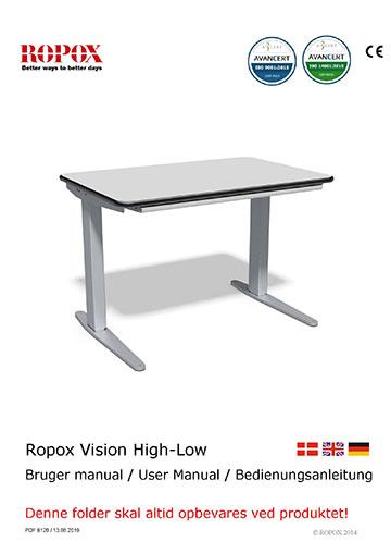 Ropox bruger- og montagevejledning - Vision High-Low