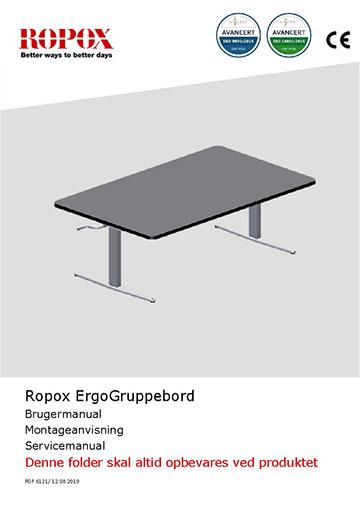Ropox bruger- og montagevejledning - ErgoGruppebord