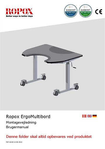 Ropox bruger- og montagevejledning - ErgoMultibord