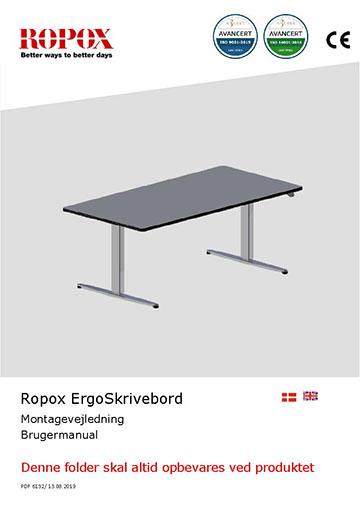 Ropox bruger- og montagevejledning - ErgoSkrivebord