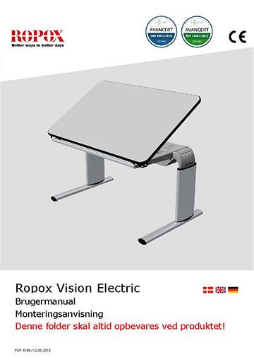 Ropox bruger- og montagevejledning - Vision Bord elektrisk
