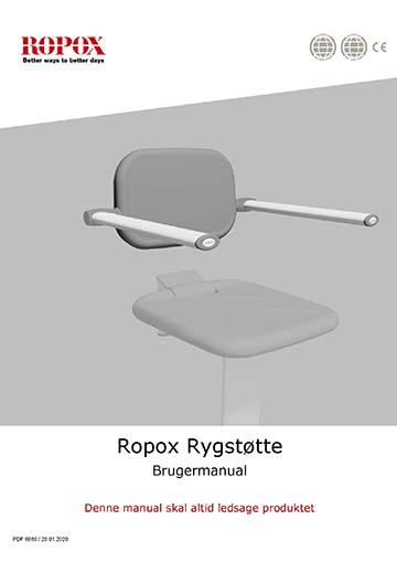 Ropox brugervejledning - Rygstøtte til brusklapsæde
