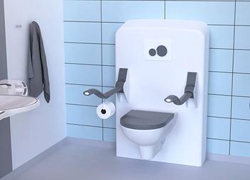 Toilet og toiletstøtter for demente