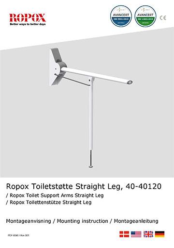 Ropox montage vejledning - Straight toiletstøtte
