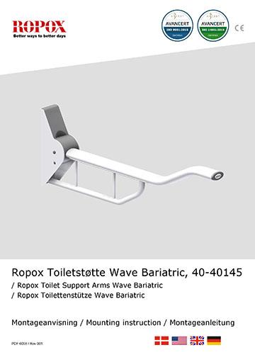 Ropox Montage vejledning - Wave bariatric toiletstøtte