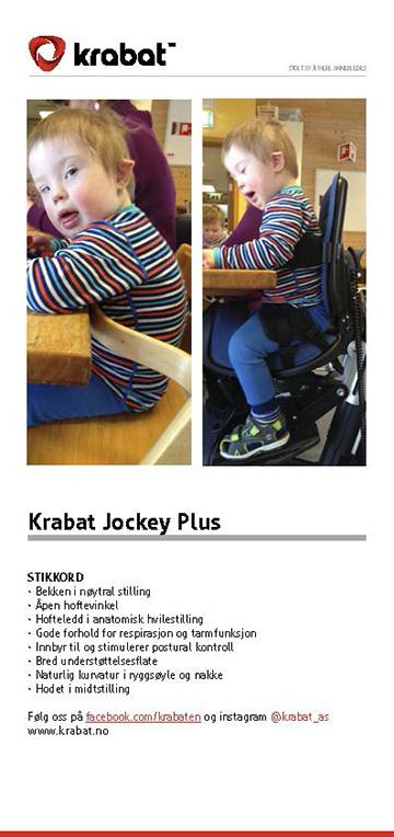 Brochure Krabat Jockey Plus Aktivitetsstol