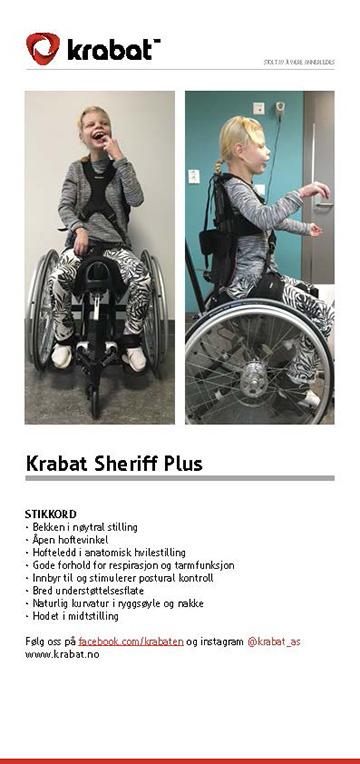 Brochure Krabat Sheriff Plus Aktiv kørestol