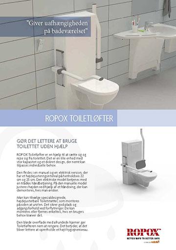 Datablad Ropox Toilet Løfter
