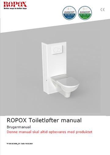 Ropox bruger manual - Toiletløfter Manuel
