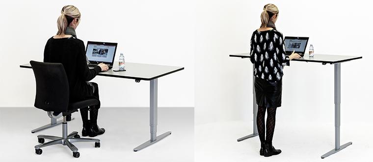 ErgoSkrivebord user sitting and standing